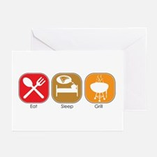 Eat Sleep GRILL Greeting Cards (Pk of 10)