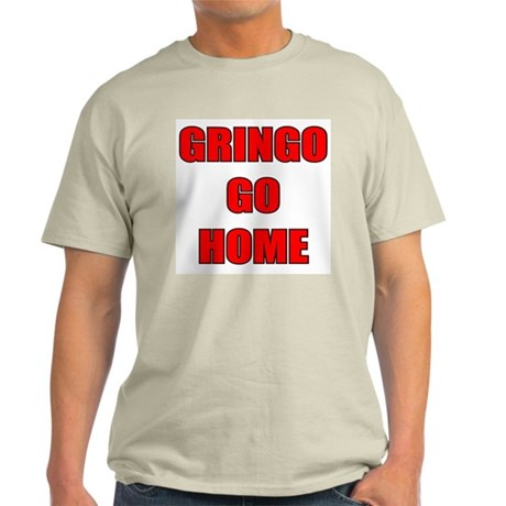 GRINGO GO HOME WHITE Ash Grey T-Shirt
