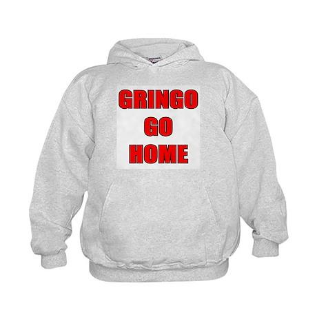 GRINGO GO HOME WHITE Kids Hoodie