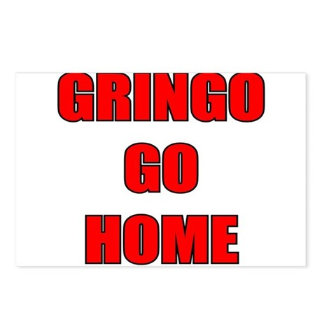 GRINGO GO HOME WHITE Postcards (Package of 8)
