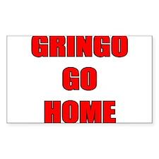 GRINGO GO HOME WHITE Rectangle Decal