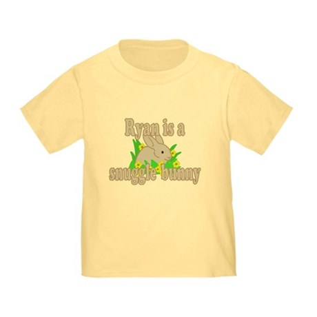 Ryan is a Snuggle Bunny Toddler T-Shirt