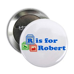 "Baby Blocks Robert 2.25"" Button (100 pack)"
