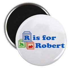 "Baby Blocks Robert 2.25"" Magnet (10 pack)"