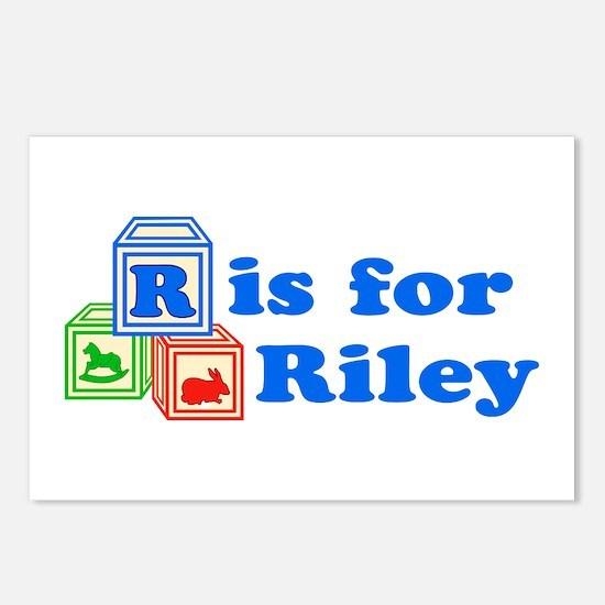 Baby Blocks Riley Postcards (Package of 8)