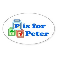 Baby Blocks Peter Decal