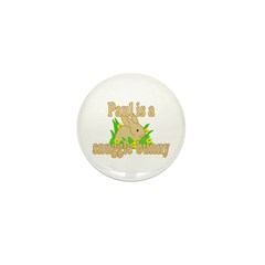 Paul is a Snuggle Bunny Mini Button (100 pack)