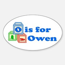 Baby Blocks Owen Decal