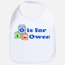 Baby Name Blocks - Owen Bib