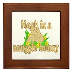 Noah is a Snuggle Bunny Framed Tile