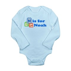 Baby Blocks Noah Long Sleeve Infant Bodysuit