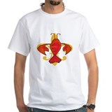 Crawfish Mens White T-shirts