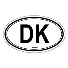 Denmark (DK) euro Oval Decal