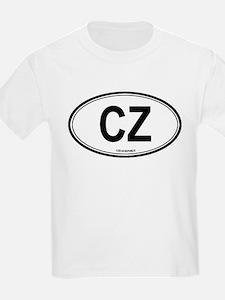 Czech Republic (CZ) euro Kids T-Shirt