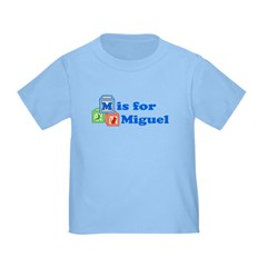 Baby Name Blocks - Miguel Toddler T-Shirt