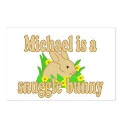 Michael is a Snuggle Bunny Postcards (Package of 8