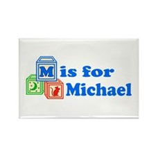 Baby Blocks Michael Rectangle Magnet (10 pack)