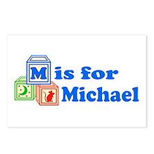 Baby Blocks Michael Postcards (Package of 8)