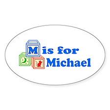 Baby Blocks Michael Decal