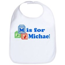 Baby Name Blocks - Michael Bib