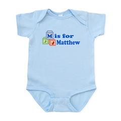 Baby Name Blocks - Matthew Infant Bodysuit