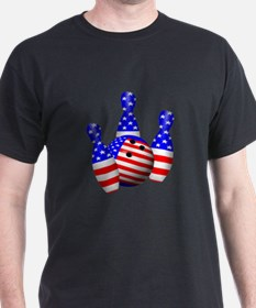 Stars And Stripes Bowler T-Shirt