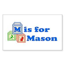 Baby Blocks Mason Decal