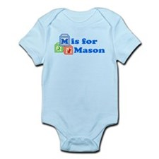 Baby Name Blocks - Mason Infant Bodysuit