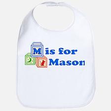 Baby Name Blocks - Mason Bib