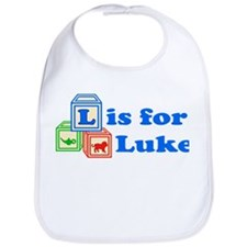 Baby Name Blocks - Luke Bib