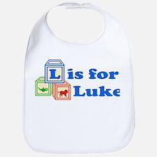 Baby Name Blocks - Luke Bib