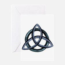 Triquetra Blue Greeting Card