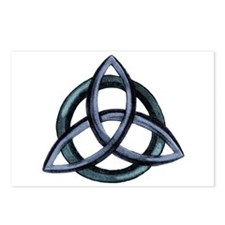 Triquetra Blue Postcards (Package of 8)