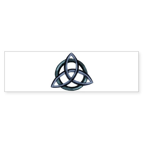 Triquetra Blue Sticker (Bumper)