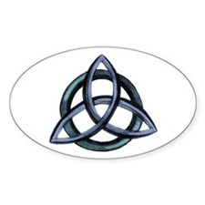 Triquetra Blue Decal