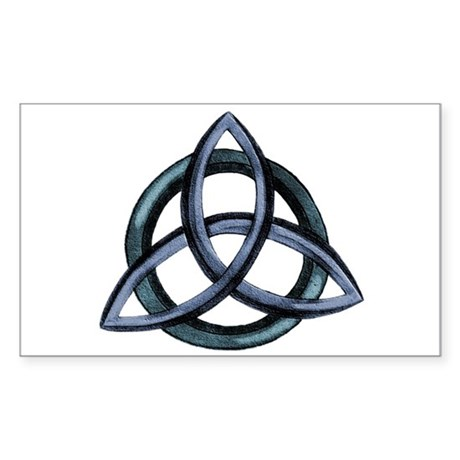 Triquetra Blue Sticker (Rectangle)