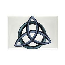 Triquetra Blue Rectangle Magnet
