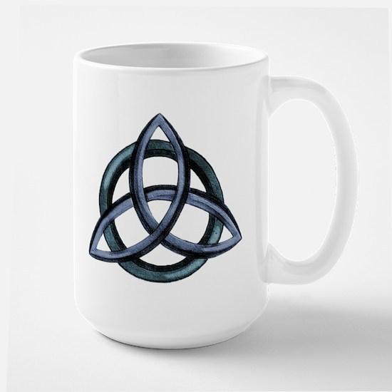 Triquetra Blue Large Mug
