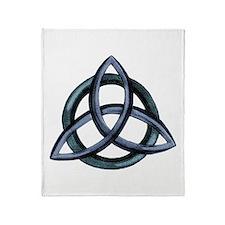 Triquetra Blue Throw Blanket