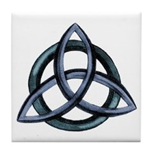 Triquetra Blue Tile Coaster