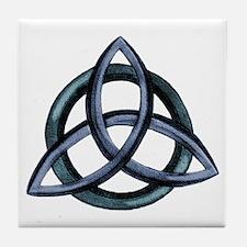 Triquetra Blue Tile Coaster