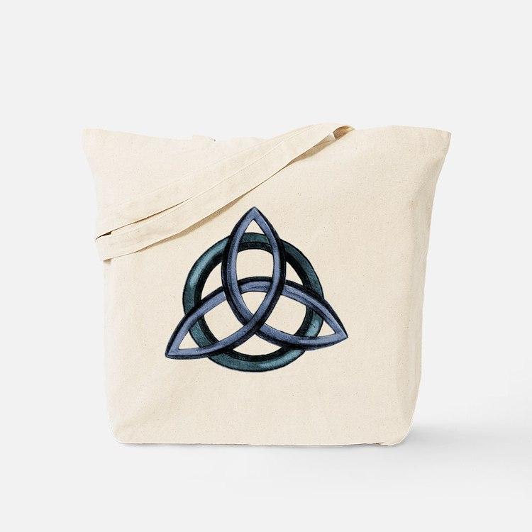 Triquetra Blue Tote Bag