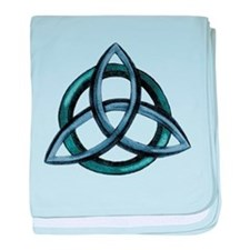 Triquetra Blue baby blanket