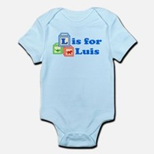 Baby Name Blocks - Luis Infant Bodysuit