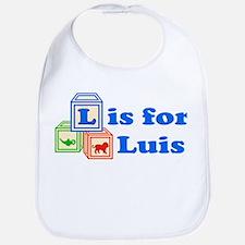 Baby Name Blocks - Luis Bib