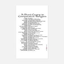 Comparative Religions Sticker (Rectangle)
