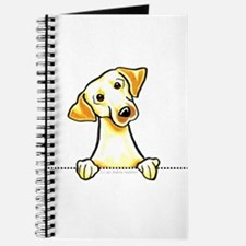 Yellow Lab Line Art Journal