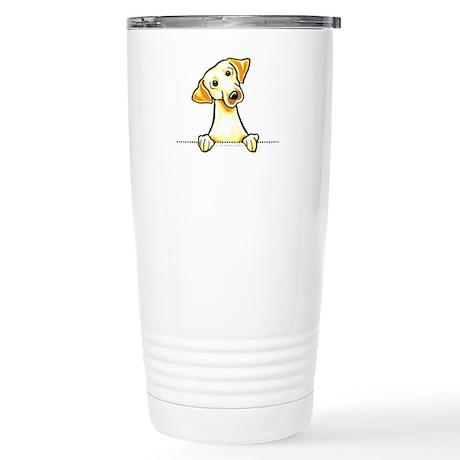 Yellow Lab Line Art Stainless Steel Travel Mug