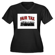 NO MORE IRS Women's Plus Size V-Neck Dark T-Shirt