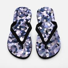 Purple Mosaic Pattern Flip Flops